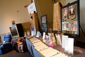 Silent Auction Tables